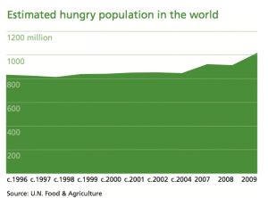 Estimated hungry population in the world
