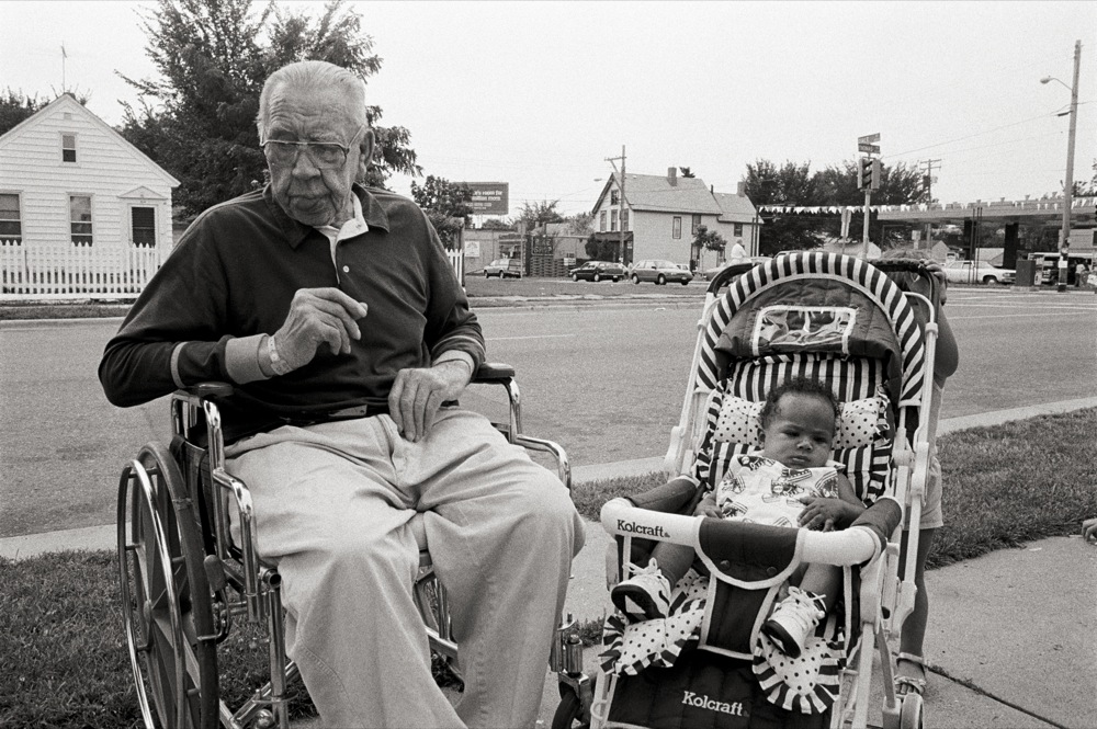 """Elderly Man and Child, St  Paul, Minnesota """" From Frogtown"""
