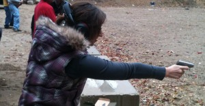 The author at a shooting range. Courtesy photo.