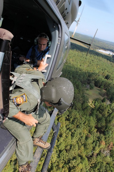 The Georgia State Patrol and Georgia Army National Guard surveilling possible marijuana cultivation as part of the Governor's Task Force/Drug Suppression program. Photo by GA National Guard, Flickr.