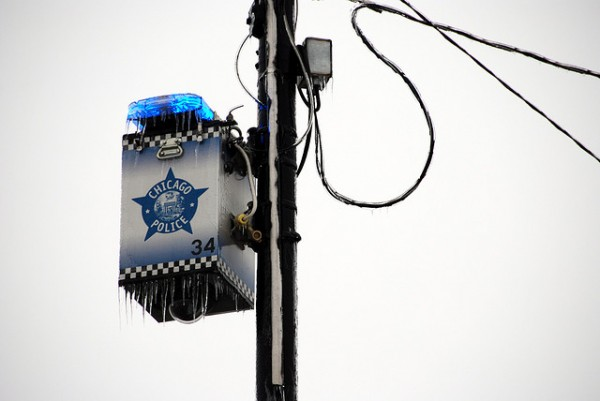 Chicago Police Blue Light by Tripp via Flickr CC. https://flic.kr/p/7q6TSc