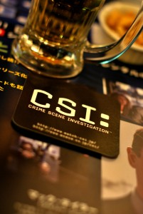 The branding of CSI is taken to its limit at this CSI-themed cafe. Yumi Kimura, Flickr CC