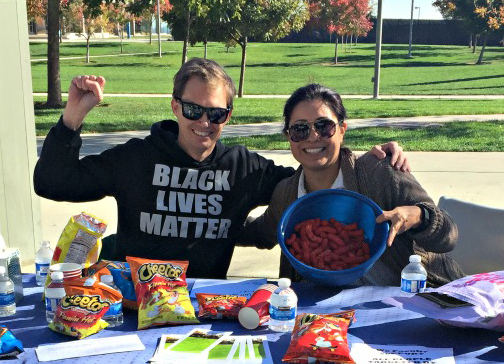 Faculty allies at UC Merced (with Cheetos.)