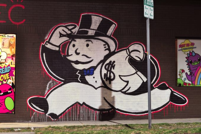 "As this L.A. graffiti shows, without transparency, voters asume taxes only work to the benefit of the rich. <a href=""https://flic.kr/p/eZmHq7"">aisletwentytwo, Flickr</a>"