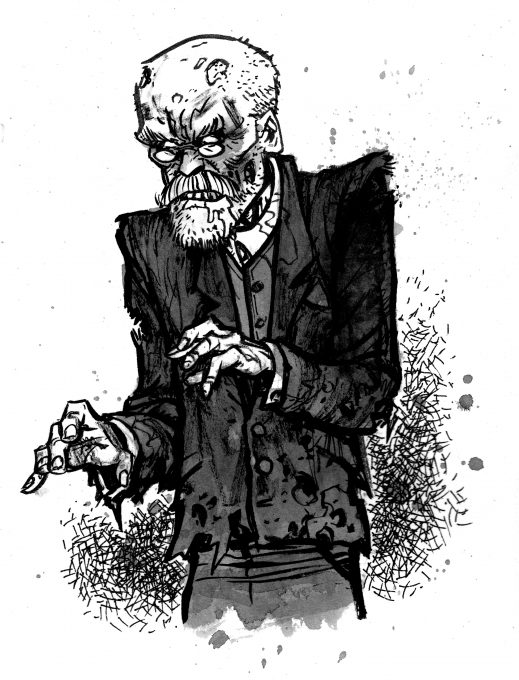 """Zombie Durkheim,"" © David Witt, DWITT.com, for Contexts Magazine."
