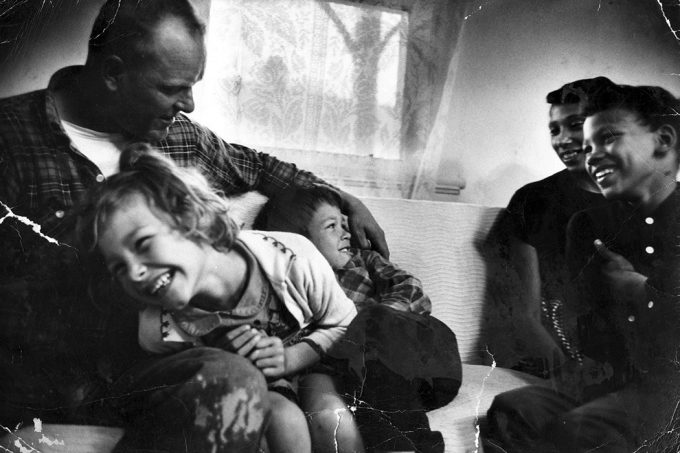Richard and Mildred Loving with their three children, in a Life magazine photo. Grey Villet, Life magazine.